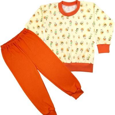 Piżama krówki żółte